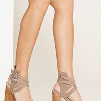 Faux Suede Strappy Sandals