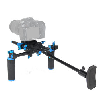 F14123 Commlite CS-V1Aluminum Alloy Handgrip Holder DSLR Shoulder Mount Rig Camera Stabilizer Dslr Rig Easy For Shooting Camera