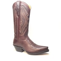 Star Boots Chocolate Cowhide Cowboy Boots