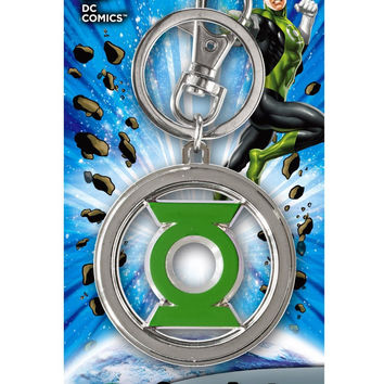 DC Colored Green Lantern Pewter Key Ring