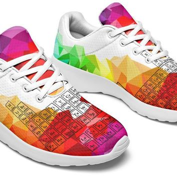 Periodic Table Mosaic Rainbow Sneakers