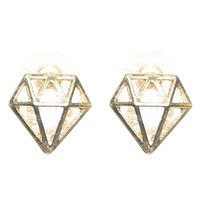 3D Diamond Button Earring | Shop Jewelry at Wet Seal