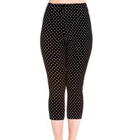 Hell Bunny Kay Polka Dot Rockabilly Capri Pants