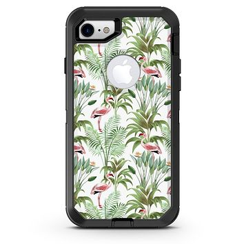 The Tropical Flamingo Jungle Scene 4 - iPhone 7 or 8 OtterBox Case & Skin Kits