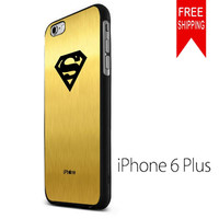 SUPERMAN LOGO IN GOLD iPhone 6 Plus Case