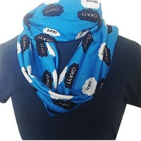 The Fault In Our Stars,Birthday gift, Okay Okay, Loop Scarf, Infinity Scarf, ROOBY LANE