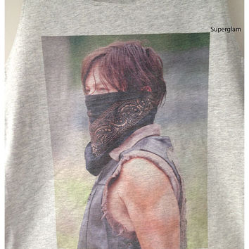 Norman Reedus Daryl Dixon The Walking Dead TV Series Singlet T-Shirt Vest Unisex Man Women