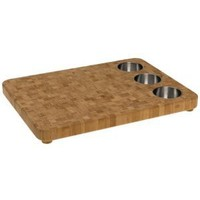 "Totally Bamboo 3-Bowl Butcher Block Prep Board, 16.5"" x 22"""