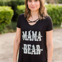 Mama Bear Cross Front Tee