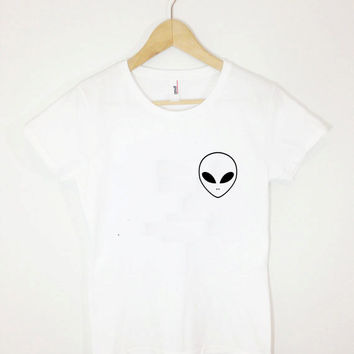Alien Pocket Tee Tumblr Pocket Shirt