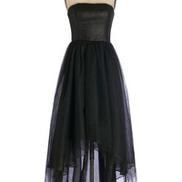 ModCloth Long Strapless Maxi Inking Ahead Dress