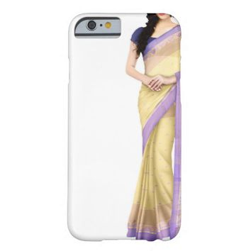 Elegant Saree Dress in Purple and Yellow Barely There iPhone 6 Case
