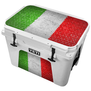 Mexican Flag Painted On Brick Wall Skin for the Yeti Tundra Cooler