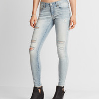 Seriously Stretchy Light Wash Destroyed Jegging