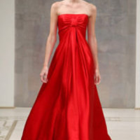 NWT $3990 REEM ACRA RED FULL LENGTH FORMAL GOWN DRESS 4 | eBay