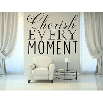 Cherish Every Moment Love Quote Wall Stickers