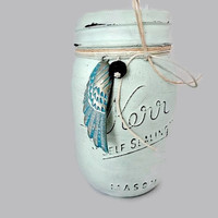 Handpainted Aromatherapy Mason Jar, Essential Oil Diffuser, Decorative Vase, Nursery Decor