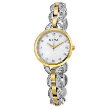 Bulova Mother of Pearl Dial Two-tone Ladies Watch 98L206