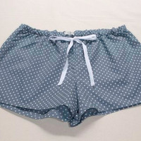 Pajama shorts Blue-Gray White Stars
