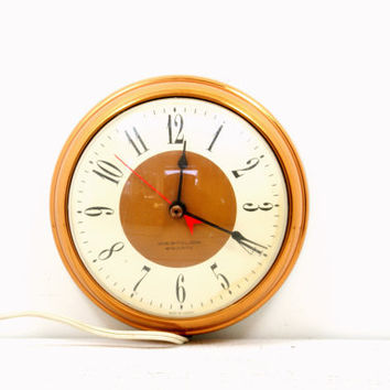 Westclox Metal Electric Wall Clock - Copper