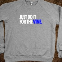 DO IT FOR THE VINE CREWNECK SWEATSHIRT-BLUE