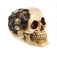 Skull Skulls Halloween Fall MRZOOT Resin Craft Home Decorations Skeleton  Bullet  Model Punk Style Decoration Personalized Ornaments Bar Decor Calavera