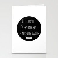 Be yourself; everyone else is already taken. Oscar Wilde Stationery Cards by White Print Design