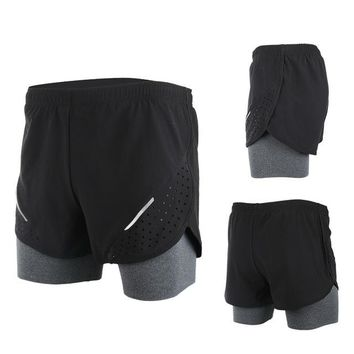 Breathable Men's Sports Running Shorts Training Jogging Active Shorts Quality Dry Crossfit Shorts