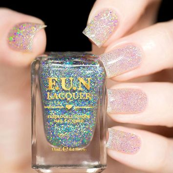Fun Lacquer Diamond Dust Nail Polish (Holo Topper Collection)