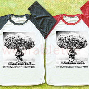 The Smile Of Explosion Shirt Nuclear Explosion Shirts Raglan Tee Shirts Baseball Tee Shirts Unisex TShirts Women TShirts Men TShirts
