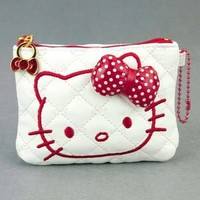 Hello Kitty Coins Bag Purse with ID or Photo Holder #447