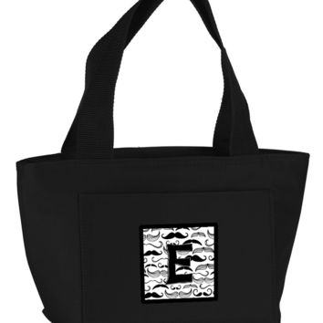 Letter E Moustache Initial Lunch Bag CJ2009-EBK-8808