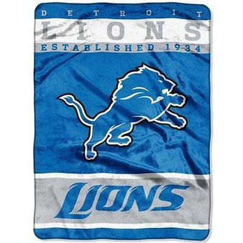 "DETROIT LIONS 60""X80"" 12TH MAN DESIGN THROW BLANKET BRAND NEW  SHIPPING"