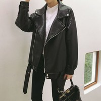 Faux-Leather Jacket
