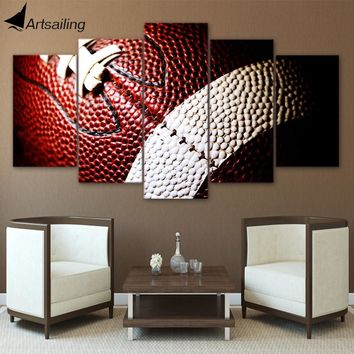 Canvas Painting Printed 5 Pieces American Football Wall Art Canvas Pictures For Living Room Bedroom Modular Home Decor CU-1338A