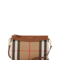 House Check Crossbody Bag, Tan - Burberry