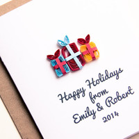 Personalized Holiday Card  - Happy Holidays Card - Family Holiday Card - Personalized Christmas Card - Christmas Stationery