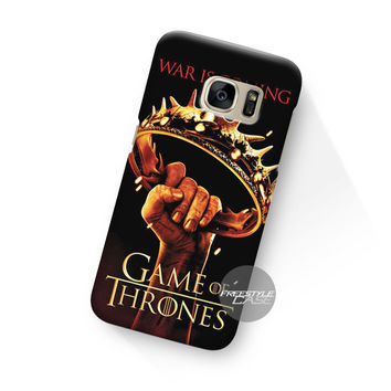 Crown Game Of Thrones War Is Coming  Samsung Galaxy Case Cover Series