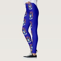 Leggings with flag of Michigan State, USA