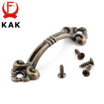10pcs NED Handles Knobs Pendants Flowers For Drawer Wooden Jewelry Box Furniture Hardware Bronze Tone Handle Cabinet Pulls