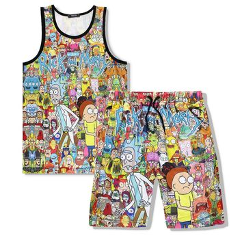 Rick and Morty Sleeveless and shorts