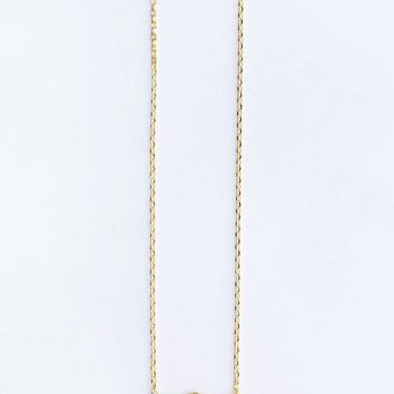 Vanessa Double Heart Dainty Gold Necklace
