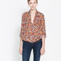 DOUBLE - BREASTED BLOUSE MET PRINT - Blouses - Dames | ZARA Nederland