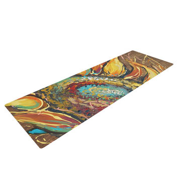 "Brienne Jepkema ""Sunflower"" Yellow Flower Yoga Mat"