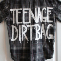 """5 Seconds of Summer 5SOS  / One Direction Inspired """"TEENAGE DIRTBAG"""" Flannel M Men"""