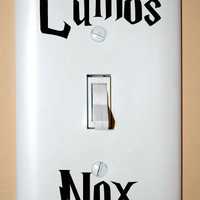 BLACK Lumos Nox Light Switch Decals
