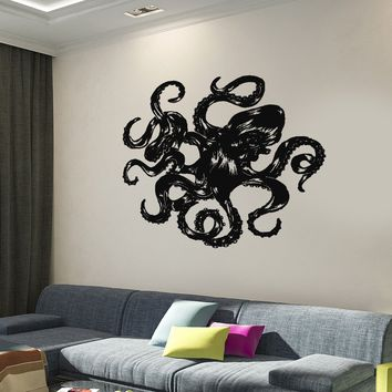 Wall Vinyl Decal Ocean Marine Sea Octopus Undersea Home Interior Decor Unique Gift z4280