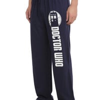 Doctor Who TARDIS Logo Guys Pajama Pants