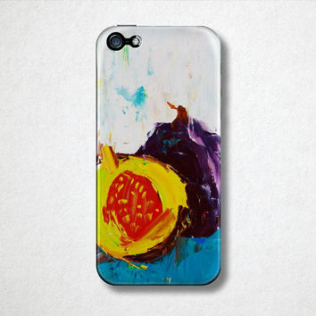 Fig Fruit Phone Case - Original Painting - iPhone Phone Case  - Samsung Galaxy Phone Case- Hard Plastic Case - Oil Painting - Abstract Art