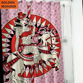 New Arrival Cool Tattoo Punk Polyester Waterproof Thickened Copper Buttonhole Bath Curtain Shower Curtain Bathroom Products